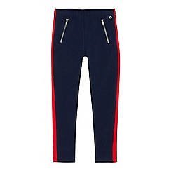 J by Jasper Conran - Girls' navy contrasting panel zip leggings