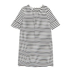 J by Jasper Conran - Girls' white striped fluted sleeve dress