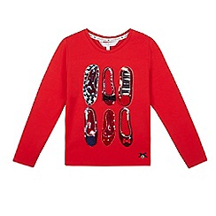 J by Jasper Conran - Girls' red sequinned embellished shoes top