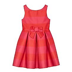 J by Jasper Conran - Girls' pink and red striped dress