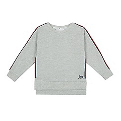 J by Jasper Conran - Girls' grey glittery striped trim sweater
