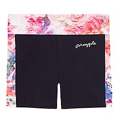 Pineapple - Girls' navy floral print shorts