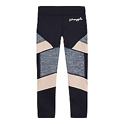 Pineapple - Girls' navy panel leggings