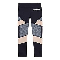 Pineapple - Girls' navy panel leggings