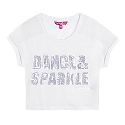 Pineapple - Girls' white mesh crop top