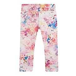 Pineapple - Girls' light pink printed leggings