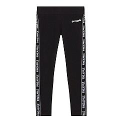 Pineapple - Girls' black tape side leggings
