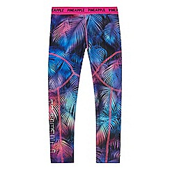 Pineapple - Girls' multi-coloured palm leaf print leggings