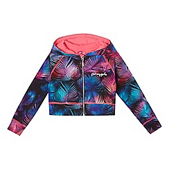Pineapple - Girls' multi-coloured palm leaf print hoodie