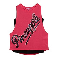 Pineapple - Girls' pink firework logo print top