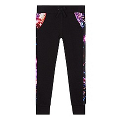 Pineapple - Girls' black firework print jogging bottoms