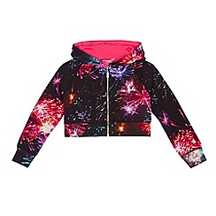 Pineapple - Girls' multi-coloured firework print sweater