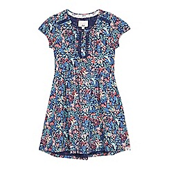 Mantaray - Girls' navy ditsy floral print dress
