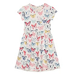 Mantaray - Girls' off white butterfly print dress