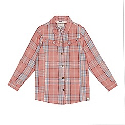 Mantaray - Girls' pink checked shirt