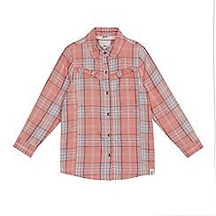 Mantaray - Girls' pink checked shirt