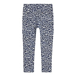 Mantaray - Girls' navy floral print jeggings