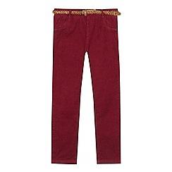 Mantaray - Girls' wine red corduroy trousers