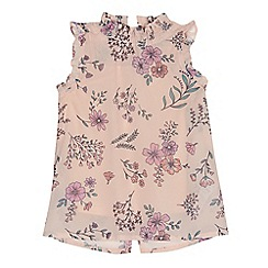 Mantaray - Girls' light pink floral blouse