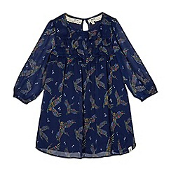 Mantaray - Girls' navy floral print dress