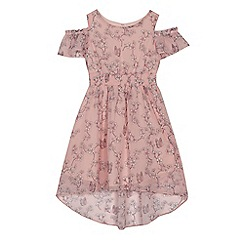 bluezoo - Girls' pink floral print dress