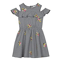 bluezoo - Girls' black gingham checked dress
