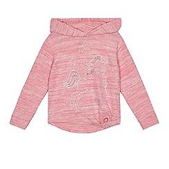 bluezoo - Girls' pink unicorn applique hoody