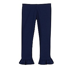 bluezoo - Girls' navy frill leggings