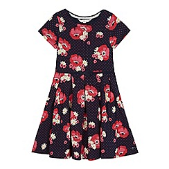 J by Jasper Conran - Girls' navy floral print dress