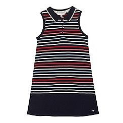 J by Jasper Conran - Girls' navy striped tennis dress