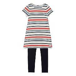 J by Jasper Conran - Girls' red striped jersey dress and leggings set