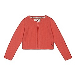J by Jasper Conran - Girls' red knitted cardigan
