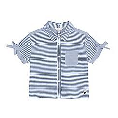 J by Jasper Conran - Girls' light blue striped shirt