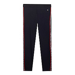 J by Jasper Conran - Girls' navy tape side leggings