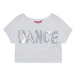 Pineapple - Girls' white sequinned 'Dance' crop top