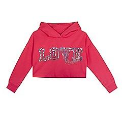 Pineapple - Girls' pink cropped hoodie
