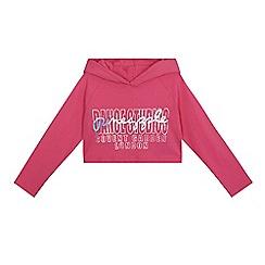 Pineapple - Girls' pink logo hoodie
