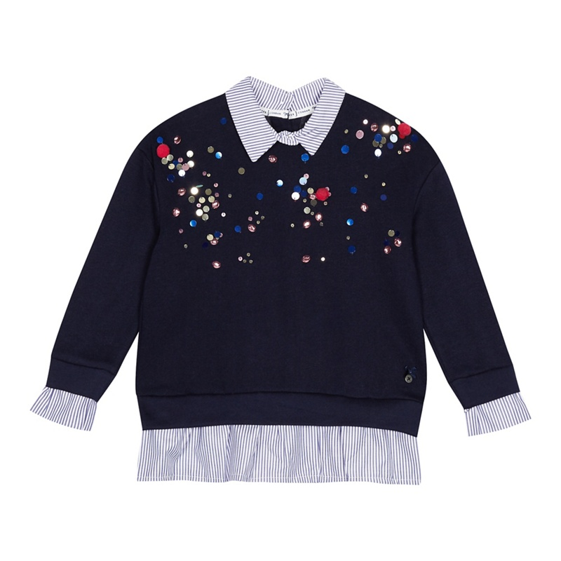 87622b7acc56 J by Jasper Conran - Girls  Navy Embellished Sweater - £9.00 ...