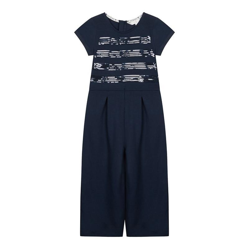 J BY JASPER CONRAN | J by Jasper Conran - Girls' Navy Sequin Striped Jumpsuit | Goxip