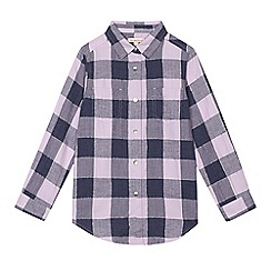 bluezoo - Girls' lilac checked shirt