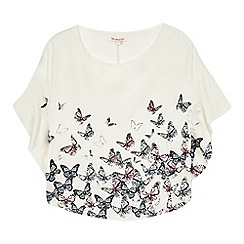 bluezoo - Girls' white butterfly print top