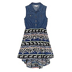 bluezoo - Girls' denim printed dress