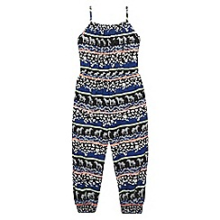 bluezoo - Girls' black zebra print jumpsuit