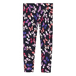 bluezoo - Girls' multi-coloured butterfly print leggings