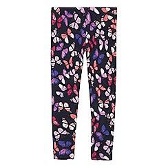 bluezoo - Girls' multi-coloured butterfly print leggings