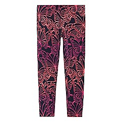 bluezoo - Girls' navy butterfly print leggings