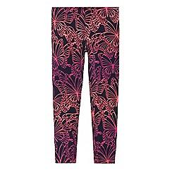 bluezoo - Girls' navy butterfly print leggings