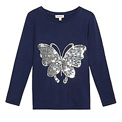 bluezoo - Girls' navy sequin top