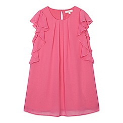 bluezoo - Girls' pink sleeveless frill dress