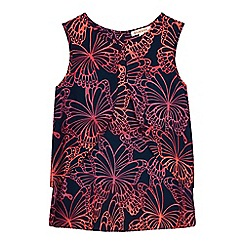 bluezoo - Girls' pink butterfly print top